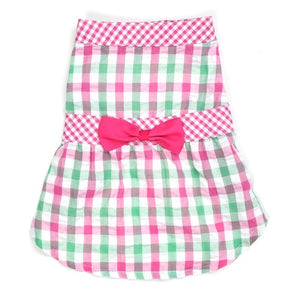 Pet Stop Store s Cute Pink & Green Check Plaid Dog Dress
