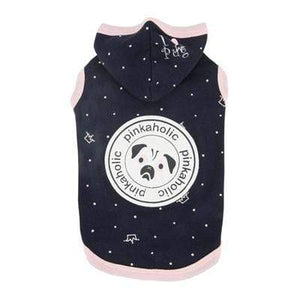 Pet Stop Store s navy Stylish & Cute Royal Pug Pink & Navy Blue Hoodie