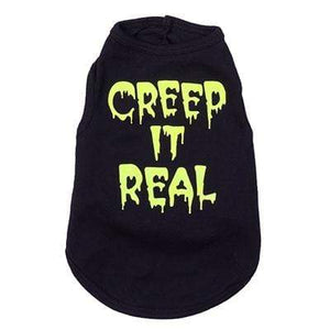 Pet Stop Store s Playful Black & Yellow Creep it Real Dog Tee's