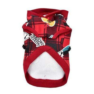 Pet Stop Store s red Playful Red & Black Hooded Dog Harnesses for Dogs All Sizes