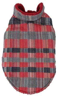Pet Stop Store 'Scotty' Tartan Classic Red, Gray & Black Plaid Insulated Dog Coat
