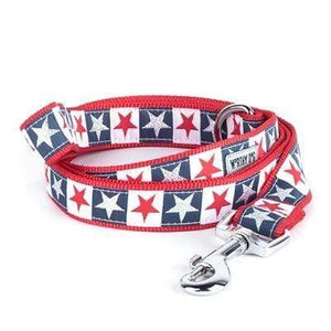 "Pet Stop Store SM 5/8"" Lead Patriotic Stars and Stripes Collar & Leash"