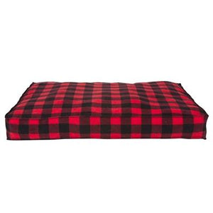 Pet Stop Store small Cabin Blanket Petnapper Red & Black Checkered Dog Bed