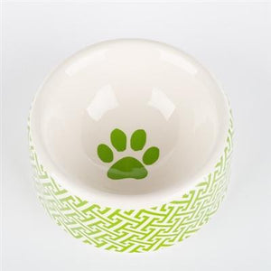 Pet Stop Store Small Dish Green Trellis Dog Bowls & Treat Jars Collection Kitchen Accessories