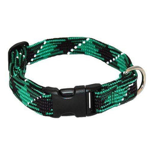 Pet Stop Store small / green Reflective Adjustable Nylon Dog Collars All Colors