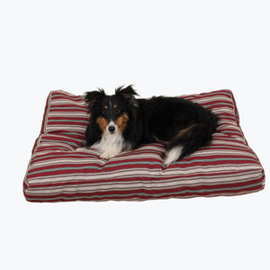 Pet Stop Store small Indoor & Outdoor Red & Striped Dog Beds