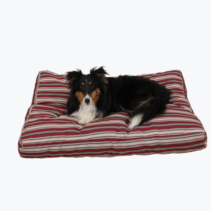 Indoor & Outdoor Red & Striped Dog Beds