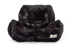 Pet Stop Store small Luxurious Black Bella Dog Bed