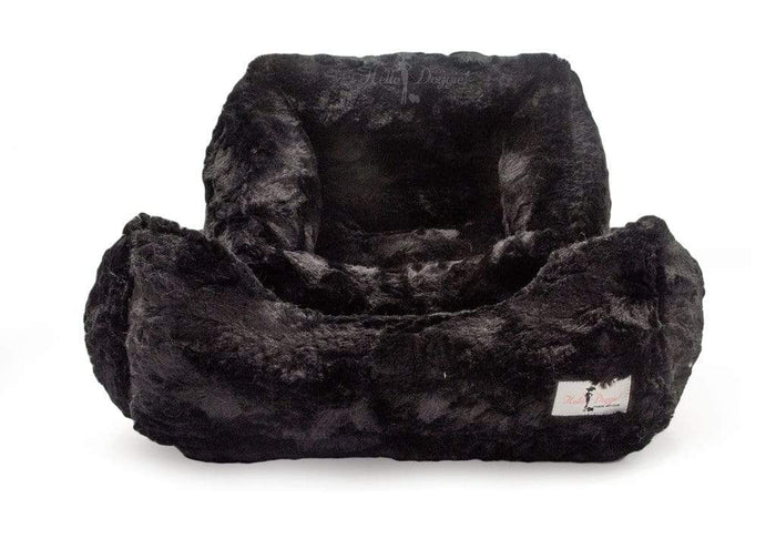 Luxurious Black Bella Dog Bed