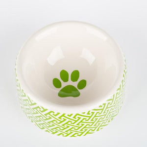 Pet Stop Store small round dish Green Trellis Dog Bowls & Treat Jars Collection