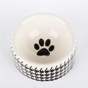 Pet Stop Store small round dish Modern Stylish Black & White Bowls & Treat Jars