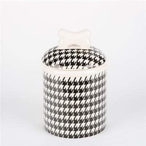Pet Stop Store Small Treat Jar Modern Stylish Black & White Bowls & Treat Jars