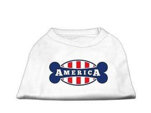 Pet Stop Store Small / White My Bone in America Screen Print Shirt