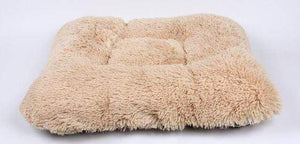 Pet Stop Store Square Windsor Checkered Dog Bed w/Camel Shag