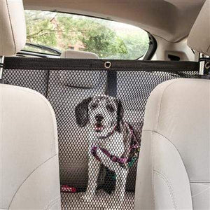 Pet Stop Store Squared Easy-Hook Mesh Car Backseat Safety Pet Barrier
