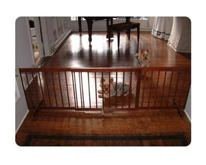 Pet Stop Store Step Over Gate Extension for Pets Walnut
