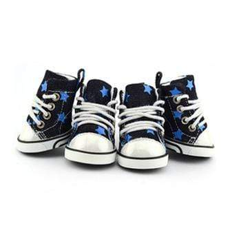 Stylish & Cute Denim Stars Converse Dog Shoes