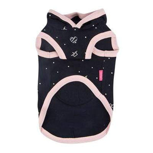 Pet Stop Store Stylish & Cute Royal Pug Pink & Navy Blue Hoodie