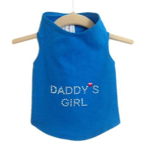 Pet Stop Store Teacup / Blue Blue Daddy's Girl Dog Tank