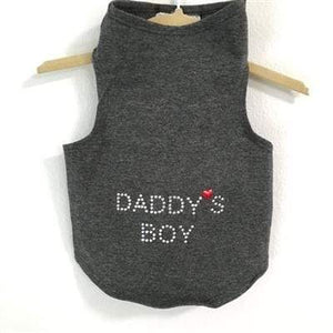 Pet Stop Store Teacup / Gray Daddy's Boy Dog Tank