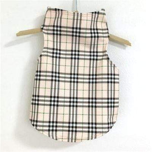 Pet Stop Store Teacup Under Wrapper Plaid Dog Tank