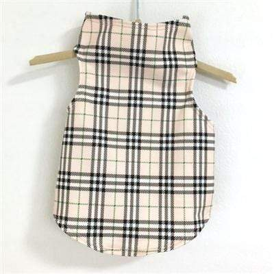 Under Wrapper Plaid Dog Tank