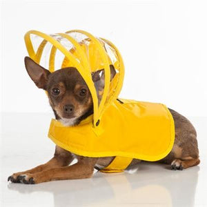 Pet Stop Store Teacup Modern, Functional Yellow Dog Raincoat with Hood