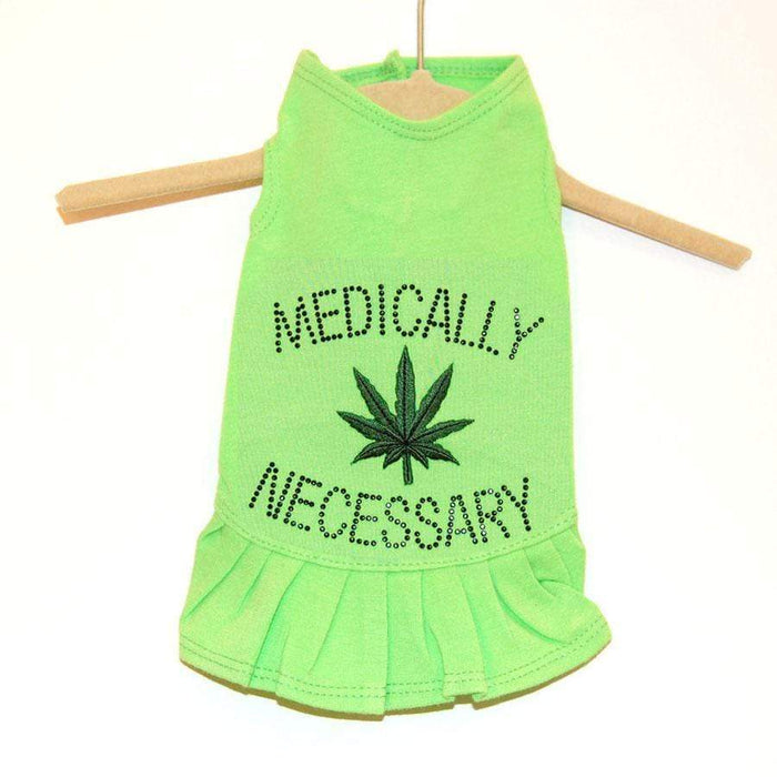 Lime Green Medically Necessary Flounce Dog Dress in All Sizes
