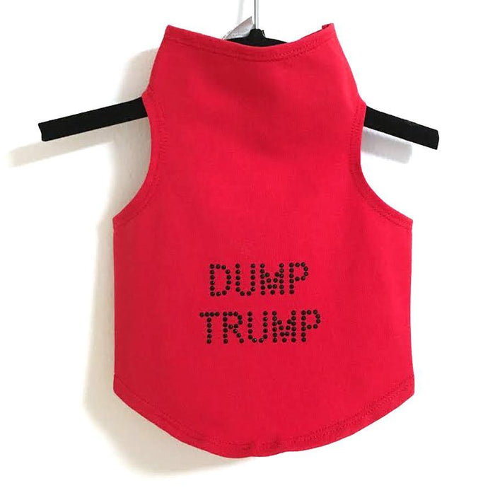 Red Dump Trump Dog Tank All Sizes