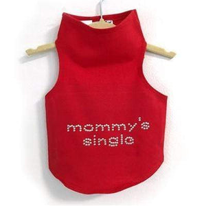 Pet Stop Store Teacup / Red Mommy's Single Studs Red Dog Tank