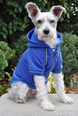 Pet Stop Store x-small Casual Nautical Blue Sports Dog Sweatshirt with Hoodie