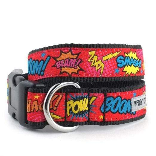 Fun & Playful Comic Strip Dog Collar & Leash
