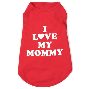 Pet Stop Store xl Fun & Play Red I Love Mommy Tee at Pet Stop Store