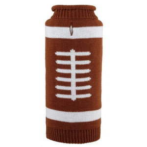 Pet Stop Store xl Fun & Playful Touchdown Roll Neck Football Dog Sweater