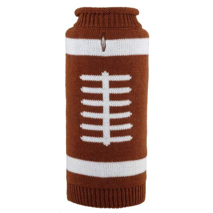 Fun & Playful Touchdown Roll Neck Football Dog Sweater