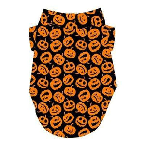 Pet Stop Store xs Halloween Orange & Black Jack-O-Lanterns Dog T-Shirt
