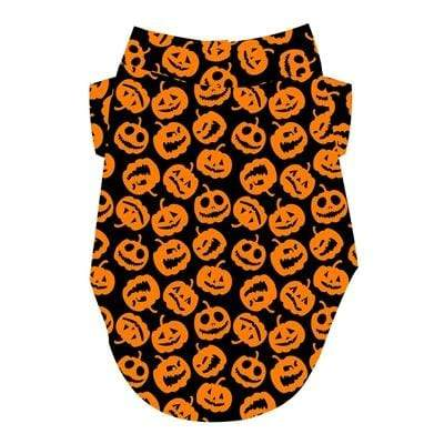 Halloween Orange & Black Jack-O-Lanterns Dog T-Shirt