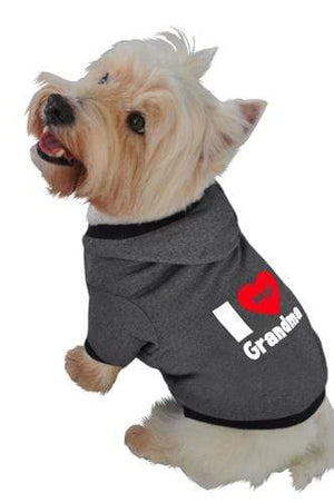 Pet Stop Store xs black I Love My Grandma Hoodie in Black & White
