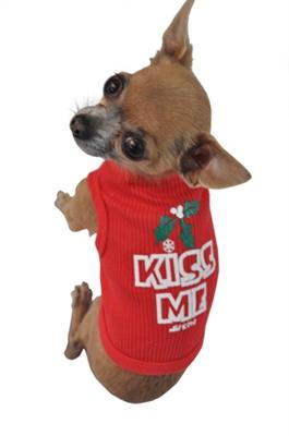 Pet Stop Store xs black Red Kiss Me  Dog Tank Top All Sizes