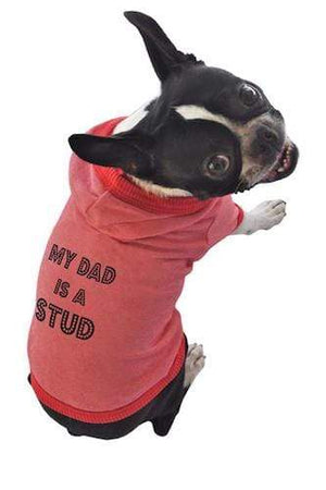 Pet Stop Store xs black Red My Dad is a Stud Dog Tank All Sizes
