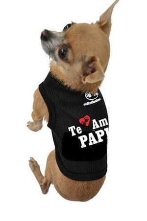 Pet Stop Store xs black Te Amo Papi Dog Tank Top All Sizes Avail Black & White