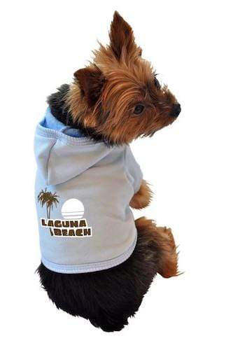 Blue Laguna Beach Dog Hoodie All Sizes