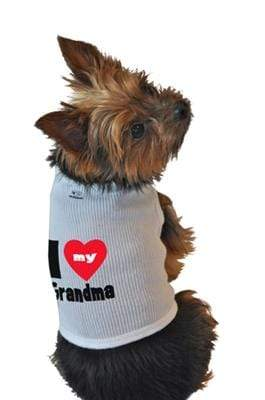 Pet Stop Store xs Cute & Fun I Love My Grandma Dog Tank