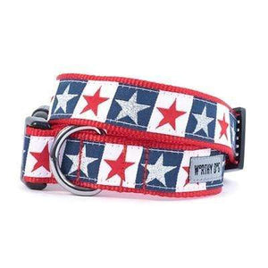 Pet Stop Store xs Patriotic Stars and Stripes Collar & Leash