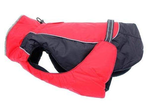 Pet Stop Store xs Red & Black Solid Alpine All Weather Waterproof Dog Coat