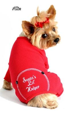 Pet Stop Store xs red Fun & Cute Sweet Dreams Embroidered Dog Pajamas All Sizes