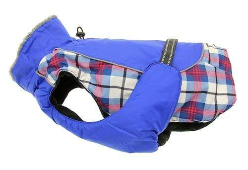 Pet Stop Store xs Royal Blue & Red Plaid Alpine All Weather Dog Coat