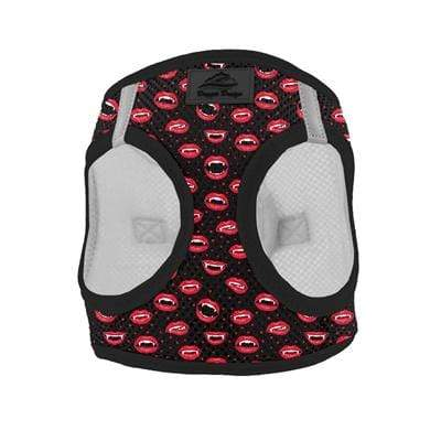 2018 Halloween Choke Free Red & Black Vampire Kisses Dog Vest Harness