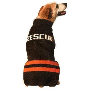 Pet Stop Store xxs Black & Red Handmade Rescue Dog Sweater at Pet Stop Store