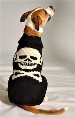 Pet Stop Store xxs Black Skull Handmade Dog Sweater at Pet Stop Store